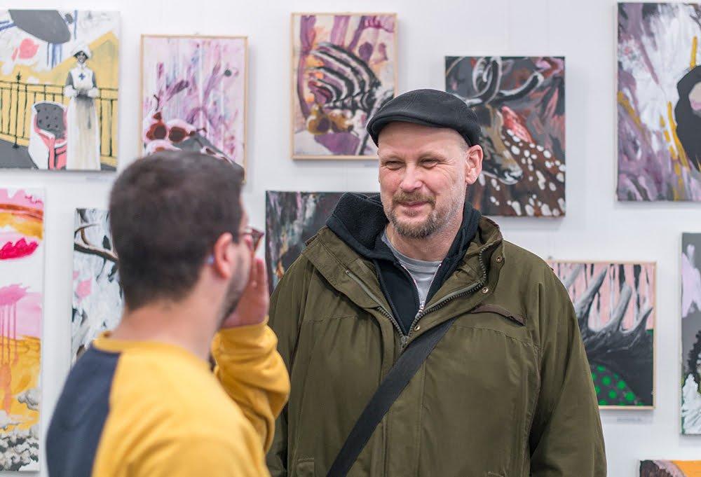 opening art exhibition