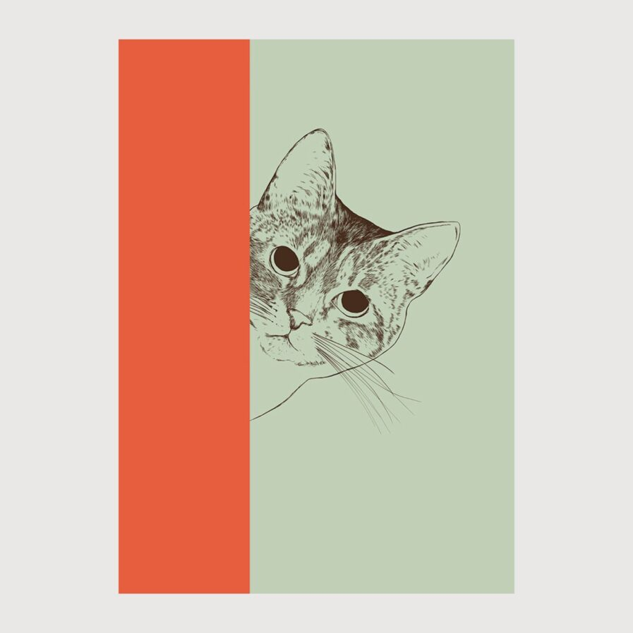 Cat print by The Red Wolf at Apaixonarte
