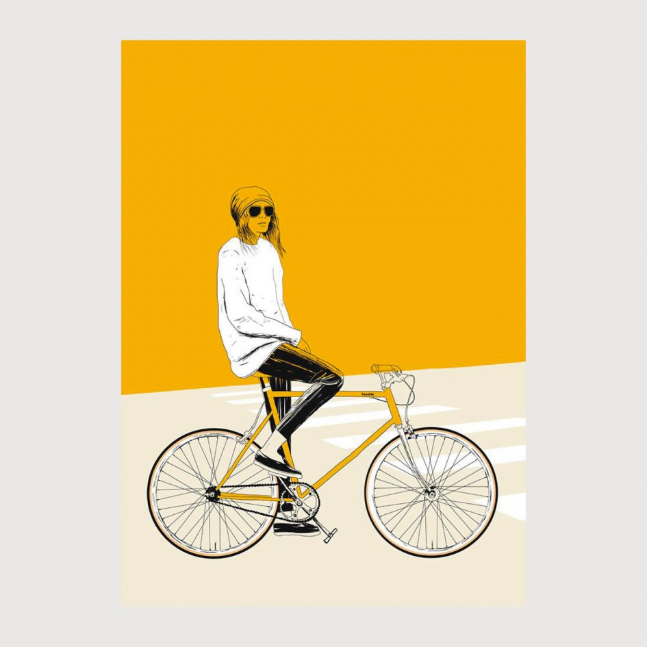 Yellow Bike print by The Red Wolf at Apaixonarte