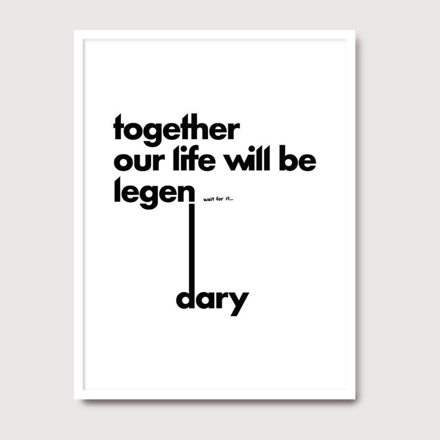 Together our life will be - A Venda portugues design grafico