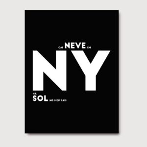 Cai neve em NY - A Venda portuguese graphic design