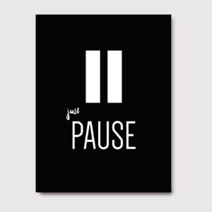 Just pause - A Venda portuguese graphic design
