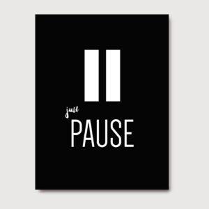 Just pause - A Venda portuguese graphic design