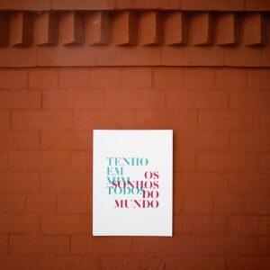 Tenho em mim - A Venda portugues design grafico