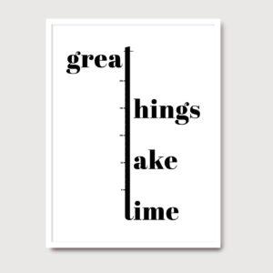 Great Things - A Venda portuguese graphic design