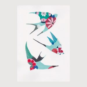 Print Swallows - Lis na Apaixonarte