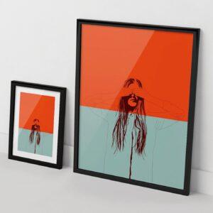 Woman Color 2 print The Red Wolf Apaixonarte