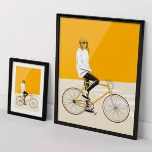 Yellow Bike print The Red Wolf Apaixonarte
