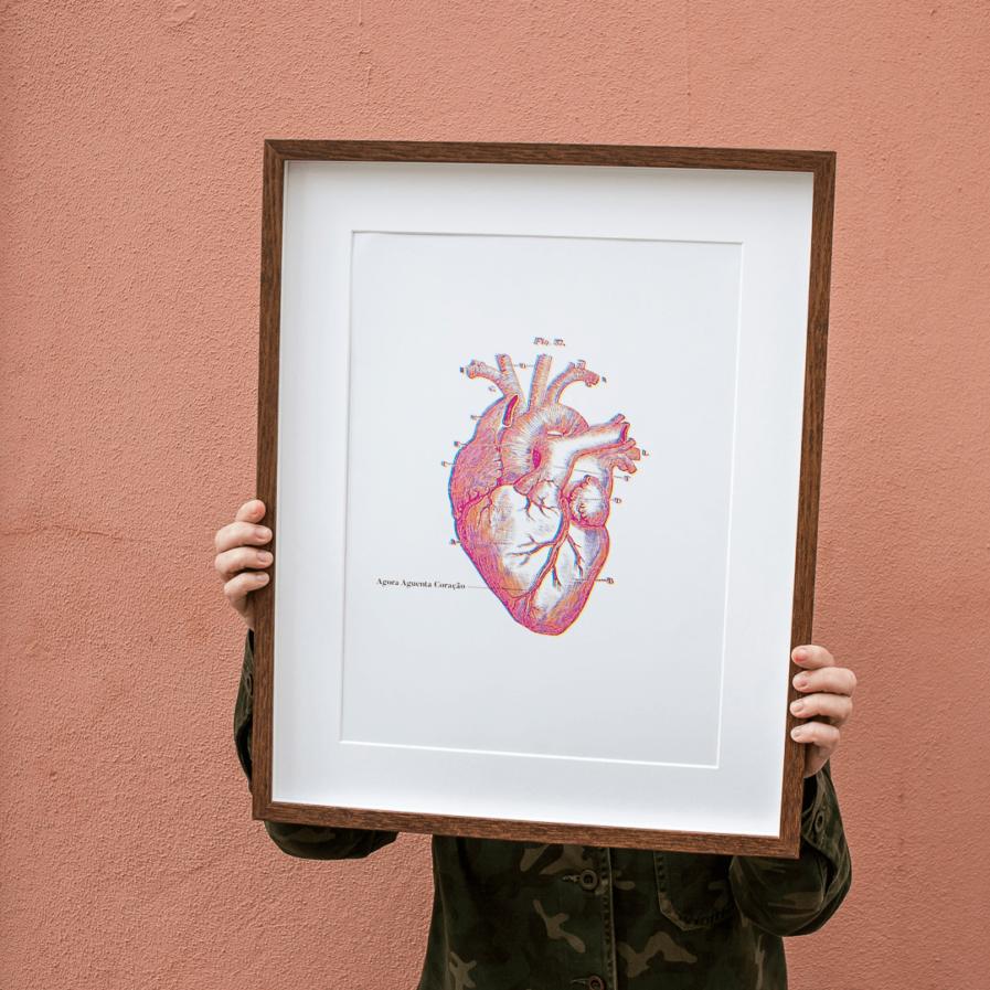 Agora aguenta coração - A Venda portugues design grafico