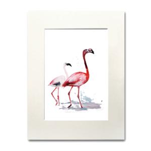 bird Two Flamingos agurela Nina fraser