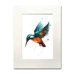 bird Kingfisher Blue aguarela Nina fraser
