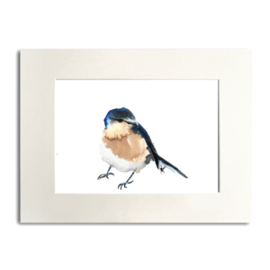 bird Azores Bullfinch aguarela Nina fraser