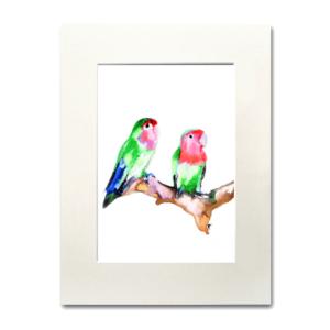 bird Love Birds aguarela Nina fraser