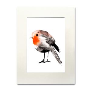 bird Robin watercolor Nina fraser