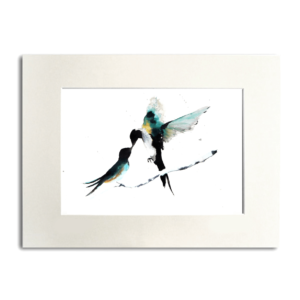 bird Dancing Swallows aguarela Nina fraser