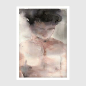 watercolor Boy with a dark Crown by Dylan silva