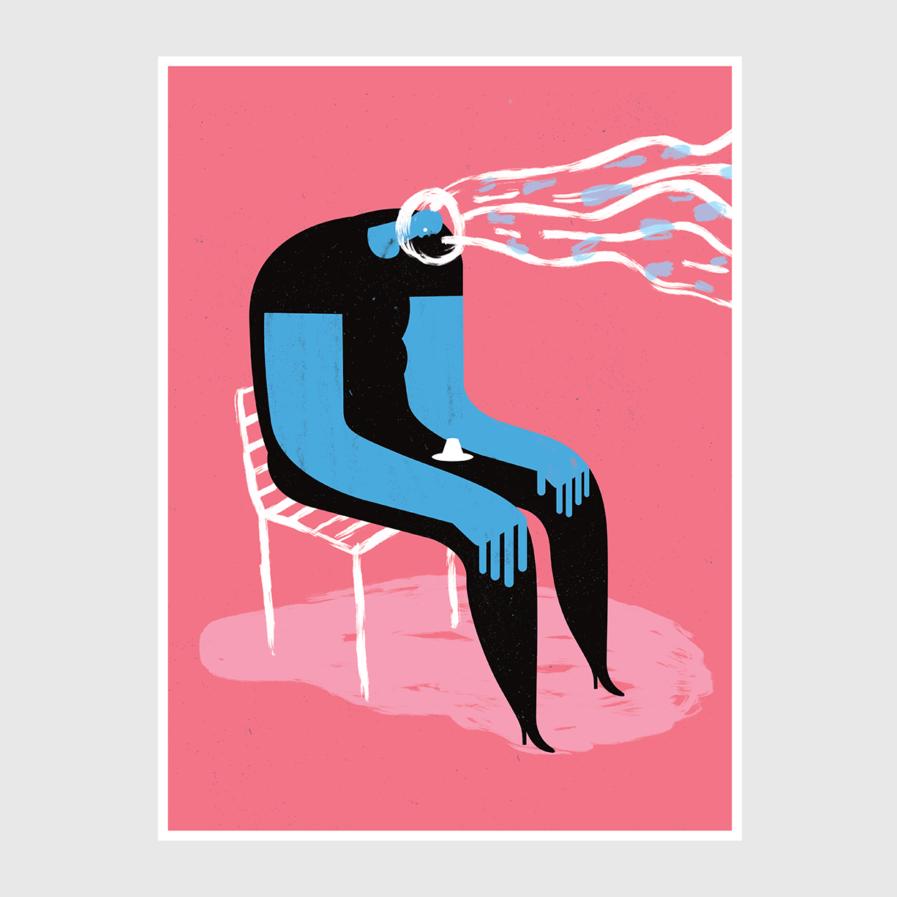 Print Blown Away Mind - Tiago Galo na Apaixonarte