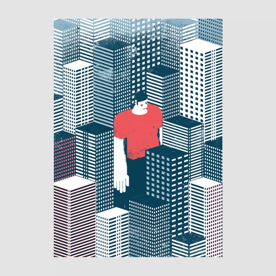 Print Lost in the City - Tiago Galo na Apaixonarte