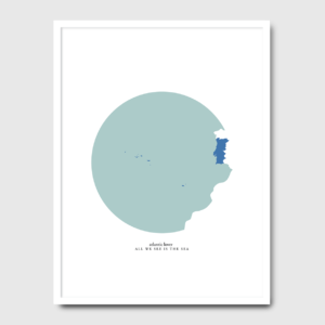All we see is the sea - A Venda portuguese graphic design