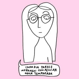 ilustração sobre Morangos com Açucar de Clara Não