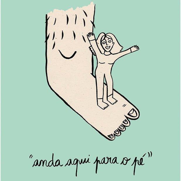 Para o pé ilustração sobre Para o pé de Clara Não