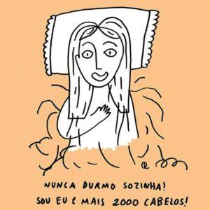 ilustração sobre 2000 Cabelos de Clara Não