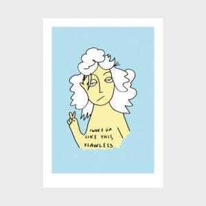 ilustração sobre Flawlessde Clara Não