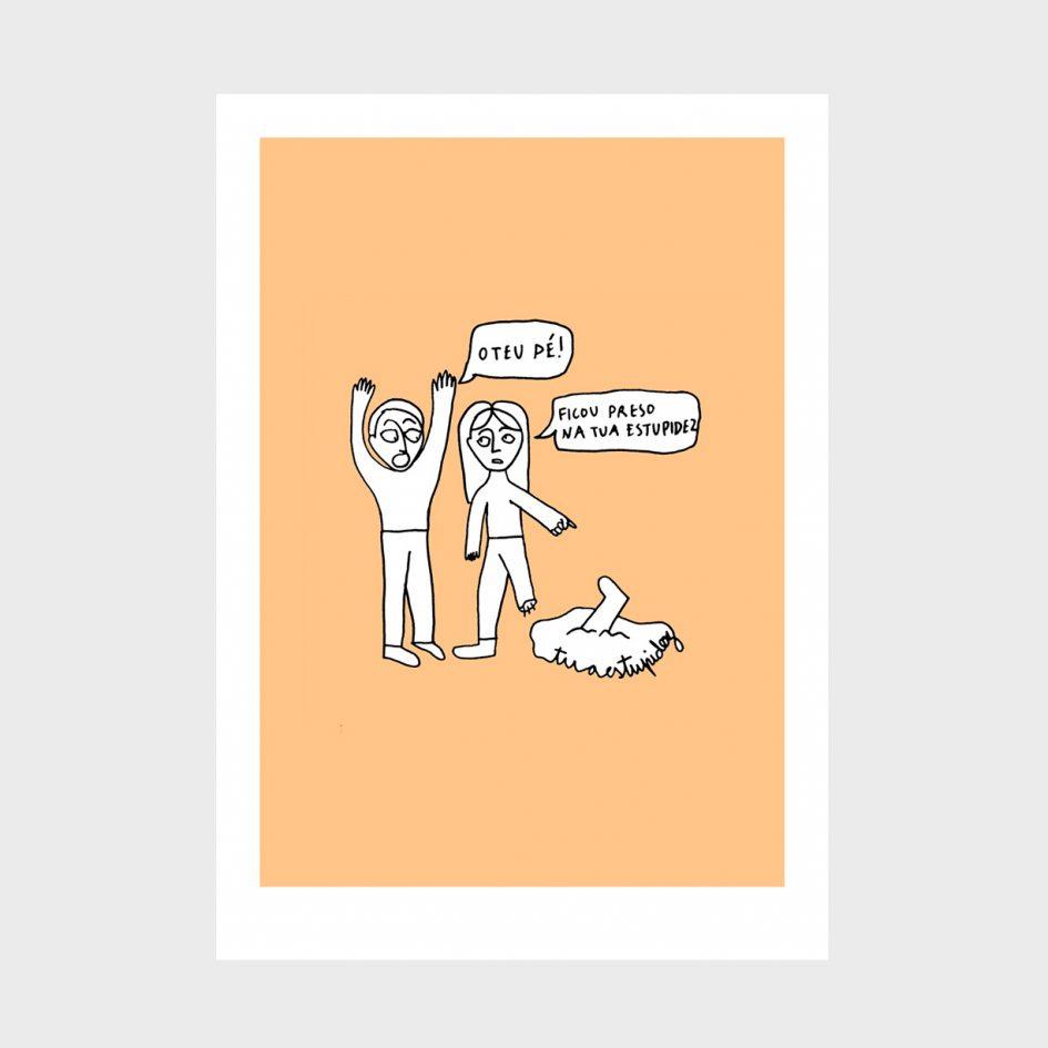 ilustração sobre A tua estupidez de Clara Não