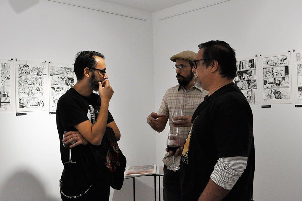 Comic book exhibition of Jorge Coelho at Apaixonarte