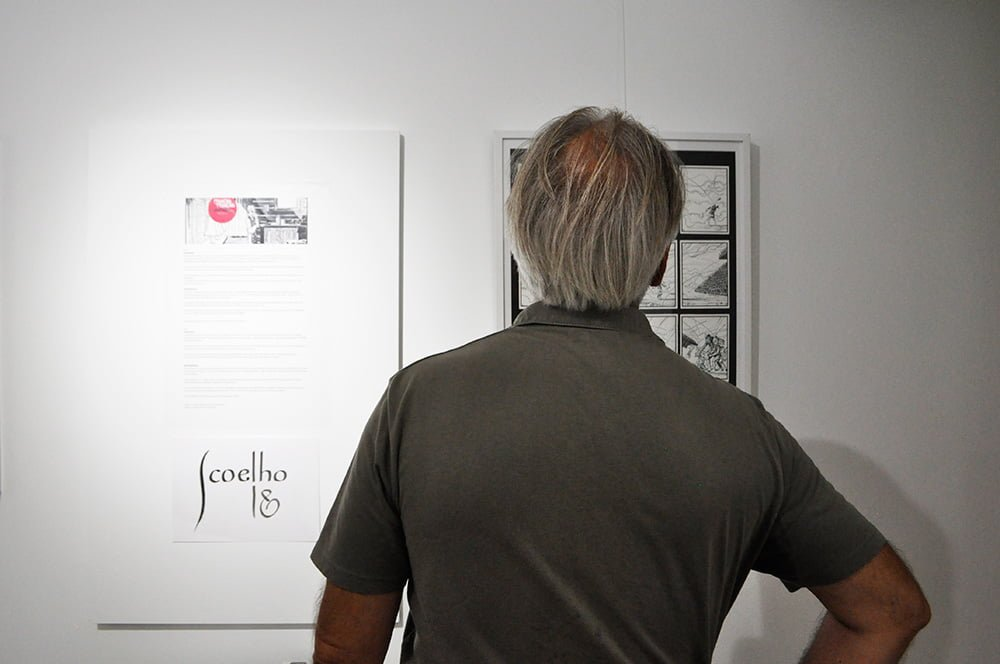 Comic book exhibition of Jorge Coelho at Apaixonarte