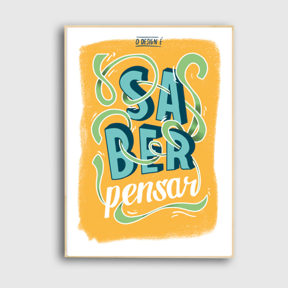 Saber pensar poster the two design studio