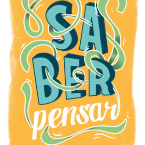 Saber pensar poster the two design studio