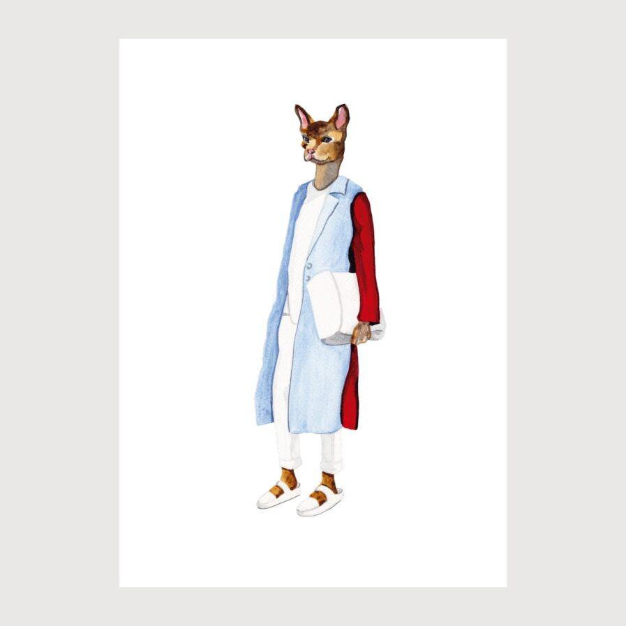 cat dressed illustration by karina krumina