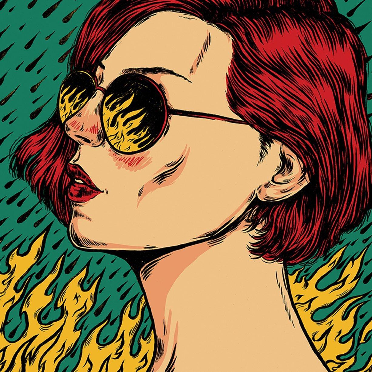 Let It Burn print by nicolae negura
