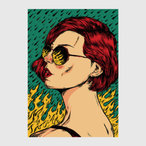 Let It Burn print by Nicolae Negura