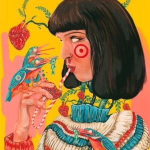 uma Thurman print by Rita Ravasco