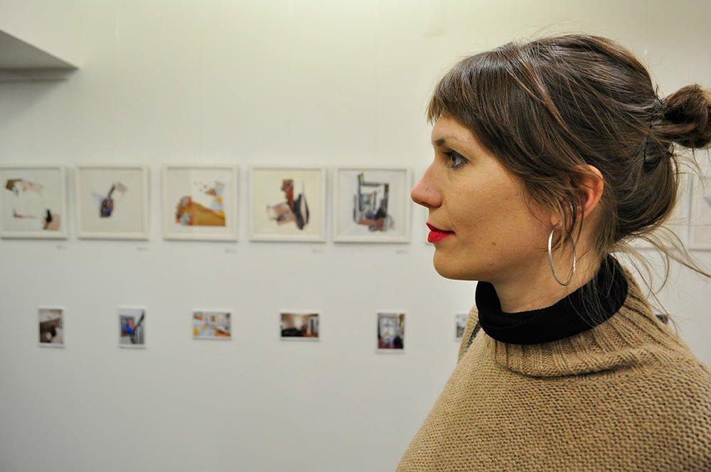 exposição de colagens Interioridades de Nina Fraser na Apaixonarte