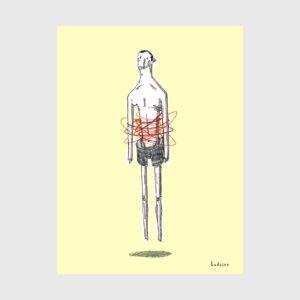 dor de barriga ricardo ladeira ilustração apaixonarte