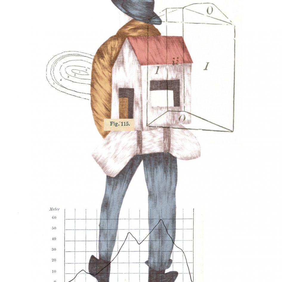 casa as costas ilustração de cláudia salgueiro