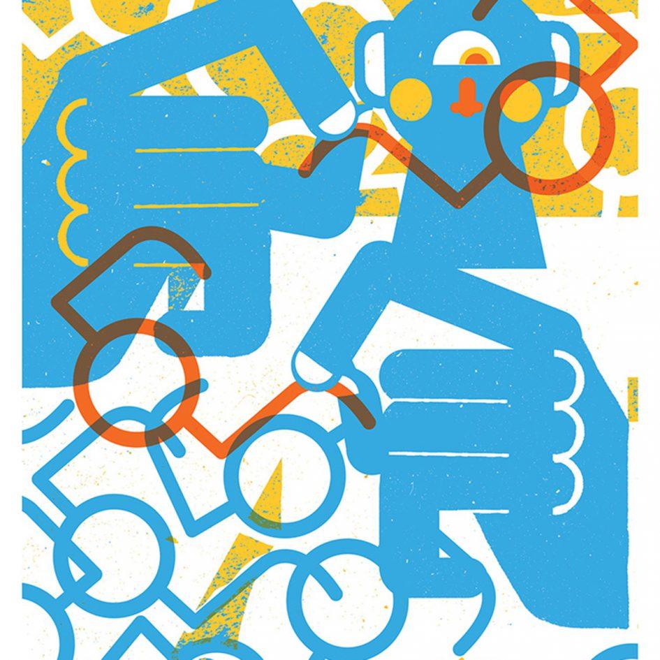 dioptre cyclops illustration by tiago galo