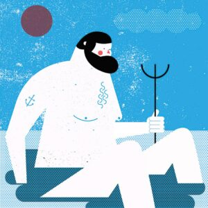 poseidon illustration by tiago galo
