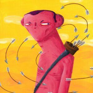 ilustração de homem com flechas