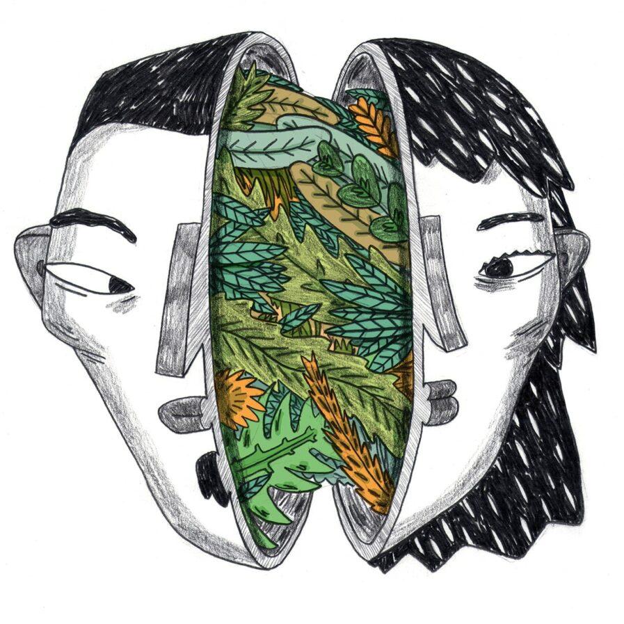 homem e mulher unidos pela natureza