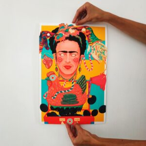 frida kahlo print illustration rita ravasco