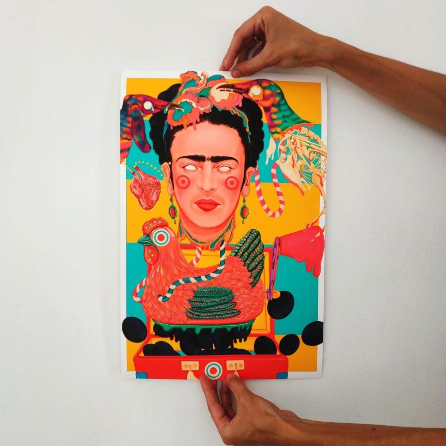frida kahlo print ilustracao rita ravasco
