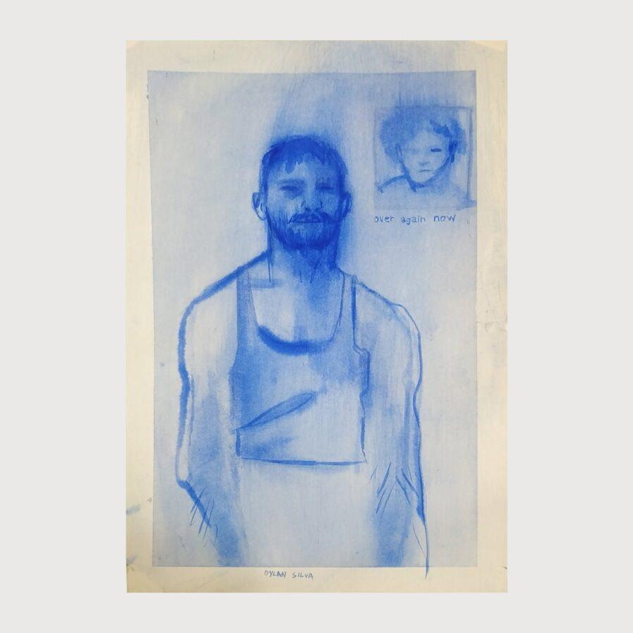 man beard watercolour illustration dylan silva