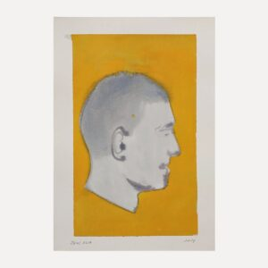 profile man watercolor dylan silva