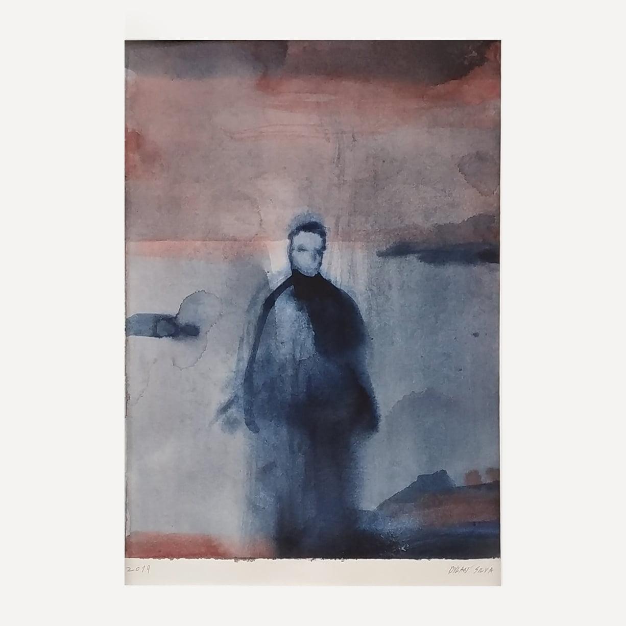 persona landscape man watercolor dylan silva