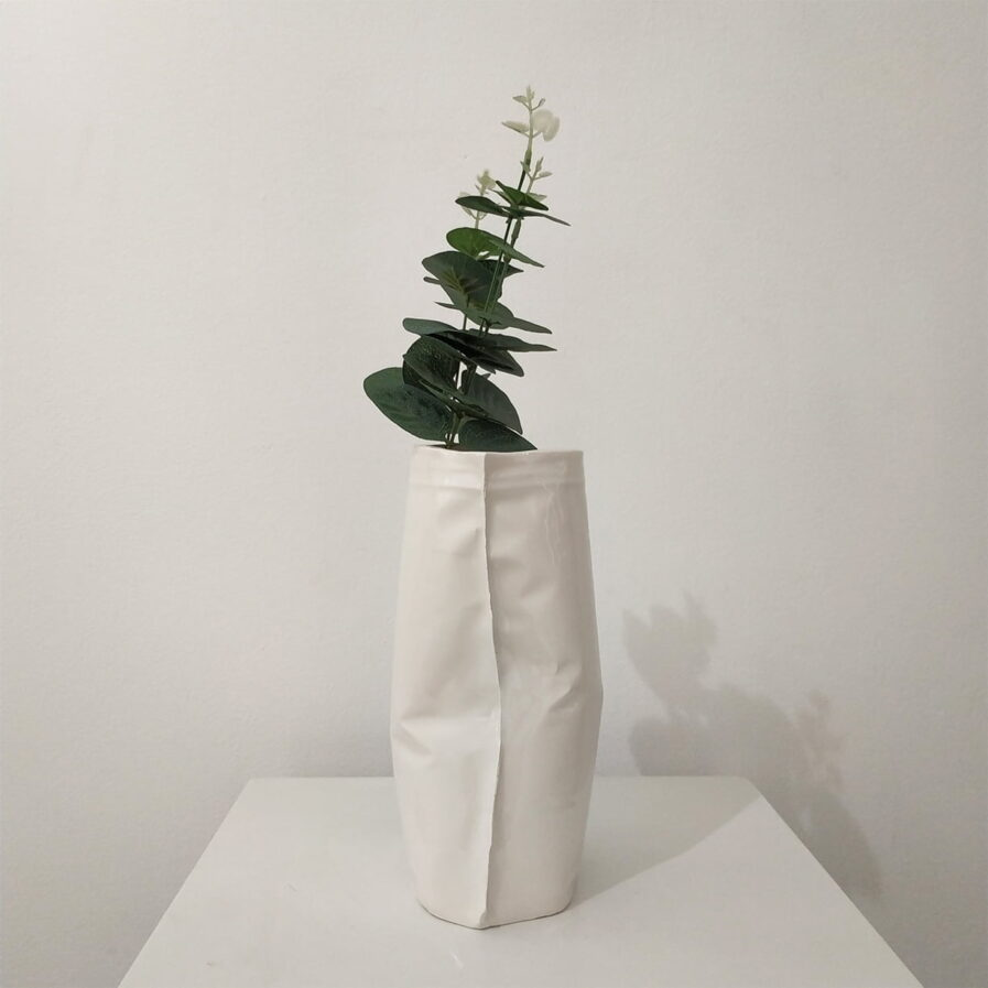 flower pot, white, decor