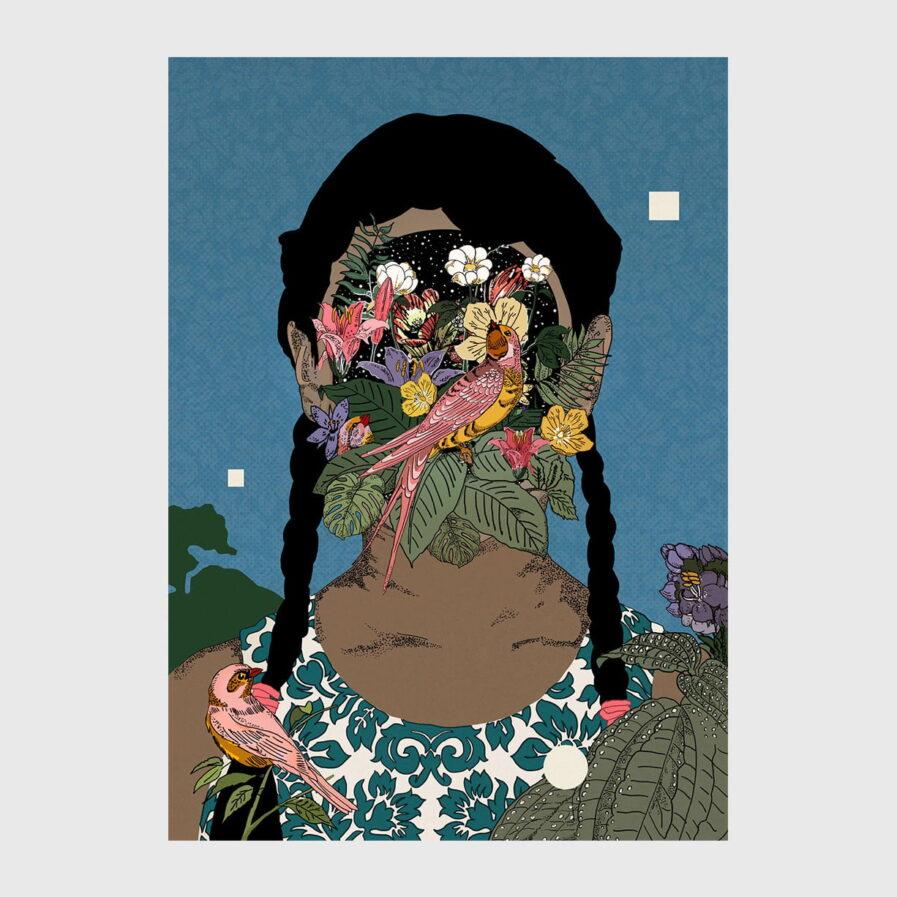 nature, patterns, woman, faceless